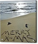 Merry Christmas Sand Art 5 12/25 Acrylic Print