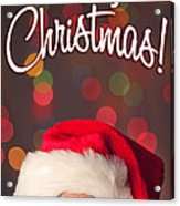 Merry Christmas Santa Card Acrylic Print