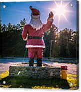 Merry Christmas Santa Claus Greeting Card Acrylic Print