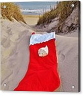Merry Christmas Stocking 2 12/23 Acrylic Print
