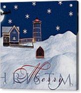 Merry Christmas Acrylic Print by Susan Candelario
