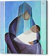 Merry Christmas Virgin Mary And Child  Acrylic Print