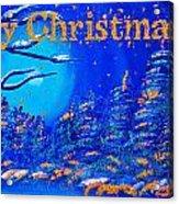 Merry Christmas Wish V2 Acrylic Print