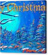 Merry Christmas Wish V3 Acrylic Print