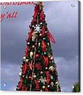 Merry Christmas Y'all Acrylic Print