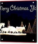 Merry Christmas Ya'll Acrylic Print