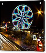 Merry Ferris Wheel Acrylic Print by Troy Espiritu