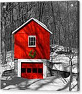 Merry Red Bw Acrylic Print