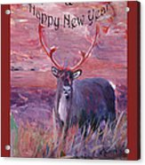Merry Xmas And Happy New Year Acrylic Print