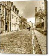 Merton Street Oxford Acrylic Print