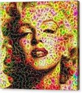 Marilyn - Colored Diamonds Acrylic Print