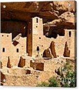 Mesa Verde National Park Cliff Palace Pueblo Anasazi Ruins Acrylic Print