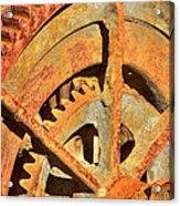 Meshing Gears Acrylic Print by Phyllis Denton
