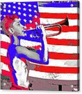 Mess Call Methodist  Service  At Camp Nathan Hale Southfields New York 1943-2014   Acrylic Print
