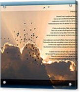 Message From Heaven Acrylic Print