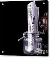 Message In A Bottle Concept Acrylic Print