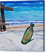 Message In A Bottle Acrylic Print