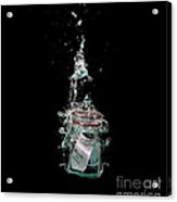 Message In Sinking Bottle Acrylic Print by Simon Bratt Photography LRPS