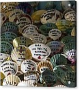 Messages On Shells Acrylic Print