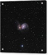 Messier 51, The Whirlpool Galaxy Acrylic Print