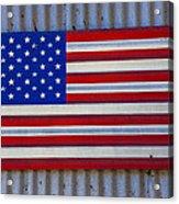 Metal American Flag Acrylic Print