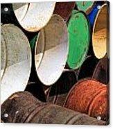 Metal Barrels 1 Acrylic Print