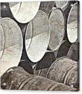 Metal Barrels 1bw Acrylic Print