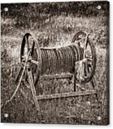 Metal Frame Rope Spindle 1 Acrylic Print