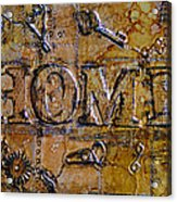 Metal Home Acrylic Print by Kenneth Feliciano