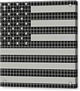 Metal Mesh Usa Flag Acrylic Print