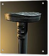 Metal Nail Isolated Acrylic Print by Allan Swart