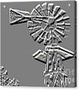 Metal Print Of Old Windmill In Gray Color 3009.03 Acrylic Print