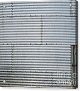 Metal Silo With Door Acrylic Print
