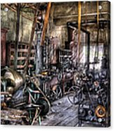 Metal Worker - Belts And Pullies Acrylic Print