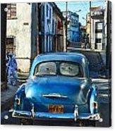 Metallic Blue And Santeria Acrylic Print