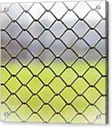 Metallic Wire Fence Acrylic Print