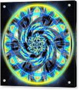 Metatron Swirl Acrylic Print by Derek Gedney