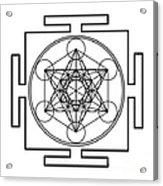 Metatron's Cube - Black Acrylic Print
