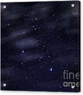 Meteor Stars And Clouds Acrylic Print