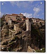 Meteora Monastary   #9793 Acrylic Print
