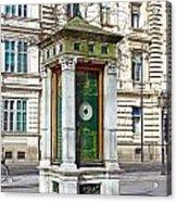 Meteorological Pole Zrinjevac Zagreb Acrylic Print