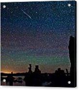Meteors Over Mono Lake Acrylic Print