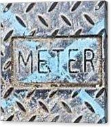Meter Cover Acrylic Print