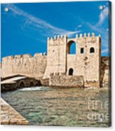 Methoni Venetian Fortress Acrylic Print by Gabriela Insuratelu