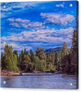 Methow River Crossing Acrylic Print