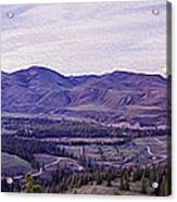 Methow River Valley Via Sun Mtn Lodge Acrylic Print by Omaste Witkowski