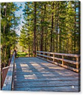 Methow Valley Community Trail At Wolf Creek Bridge Acrylic Print by Omaste Witkowski