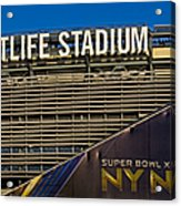 Metlife Stadium Super Bowl Xlviii Ny Nj Acrylic Print