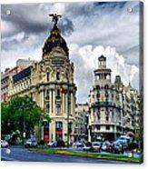Metropolis Madrid Acrylic Print