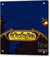 Metropolitain #1 Acrylic Print